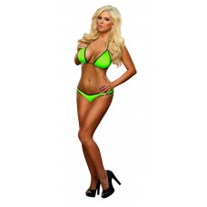Triangle Top & Thong Lime